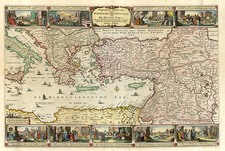 Europe, Mediterranean, Balearic Islands, Asia, Holy Land and Turkey & Asia Minor Map By Nicolaes Visscher I