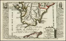 Spain Map By Christian Friedrich von der Heiden