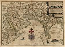 Indian Ocean, India, Central Asia & Caucasus and Middle East Map By Jan Huygen Van Linschoten