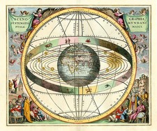 World, Curiosities and Celestial Maps Map By Andreas Cellarius