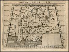 India and Central Asia & Caucasus Map By Giovanni Antonio Magini