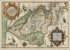 Polar Maps, Florida, South, Southeast, Caribbean, Central America, South America, Brazil and America Map By Jan Huygen Van Linschoten