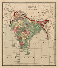 India Map By Sidney Morse