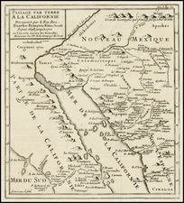Southwest, Mexico, Baja California and California Map By Fr. Eusebio Kino / Inselin