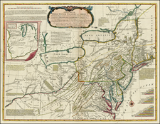 United States, Mid-Atlantic and Midwest Map By Carington Bowles / Lewis Evans