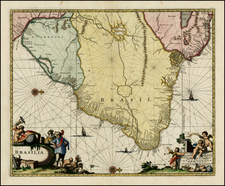 Brazil Map By John Ogilby