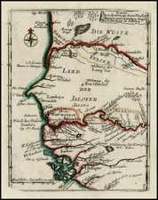 West Africa Map By Christian Friedrich von der Heiden
