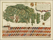 Italy and Balearic Islands Map By Nicolas de Fer
