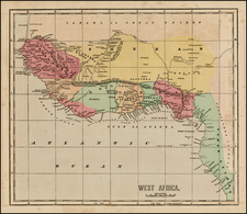 West Africa Map By Sidney Morse