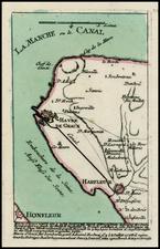France Map By Christian Friedrich von der Heiden