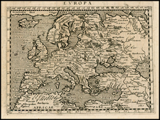 Europe and Europe Map By Giovanni Antonio Magini