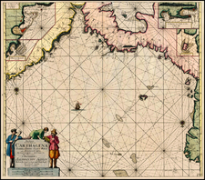 Caribbean and Central America Map By Johannes Van Keulen