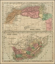 Africa, Africa, North Africa and South Africa Map By Sidney Morse