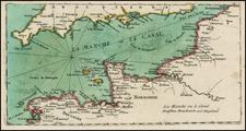 British Isles and France Map By Christian Friedrich von der Heiden