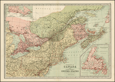 New England and Canada Map By T. Ellwood Zell