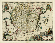 Sweden Map By Johannes Blaeu