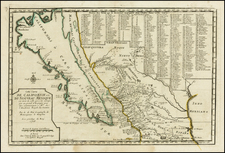 Baja California and California Map By Nicolas de Fer