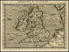 British Isles Map By Giovanni Antonio Magini