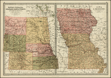 Midwest, Plains and Rocky Mountains Map By T. Ellwood Zell