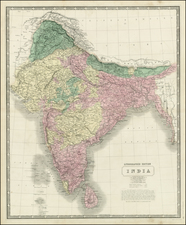 India and Central Asia & Caucasus Map By W. & A.K. Johnston