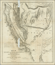 Southwest, Rocky Mountains and California Map By John Charles Fremont / Charles Preuss