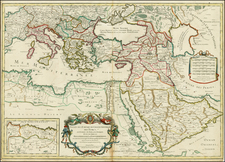 Europe, Russia, Ukraine, Balkans, Italy, Greece, Turkey, Mediterranean, Balearic Islands, Middle East, Holy Land, Turkey & Asia Minor and North Africa Map By Alexis-Hubert Jaillot