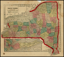 Mid-Atlantic Map By Sidney Morse  &  Samuel Gaston
