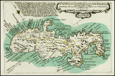 Caribbean, Other Islands and Martinique Map By Christian Friedrich von der Heiden
