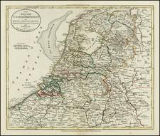 Netherlands Map By William Guthrie