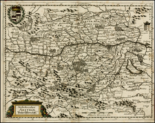 Austria and Italy Map By Matthaus Merian