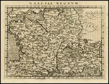 France Map By Giovanni Antonio Magini