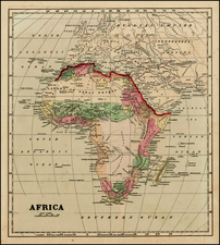 Africa and Africa Map By Sidney Morse