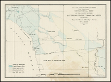 California Map By U.S. Pacific RR Survey