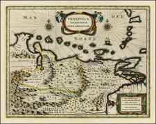 Caribbean and South America Map By Willem Janszoon Blaeu