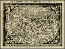Netherlands and Germany Map By Giovanni Antonio Magini