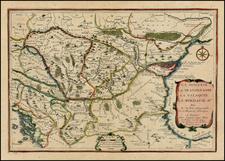 Austria, Poland, Ukraine, Hungary, Romania and Balkans Map By Nicolas de Fer