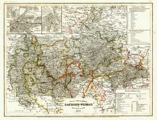 Europe and Germany Map By Joseph Meyer