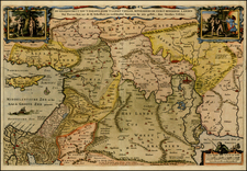 Balearic Islands, Middle East, Holy Land and Turkey & Asia Minor Map By Nicolaes Visscher I