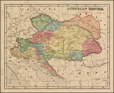 Austria, Hungary, Romania, Czech Republic & Slovakia and Balkans Map By Sidney Morse