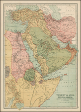 Mediterranean, Central Asia & Caucasus, Middle East, Turkey & Asia Minor and Egypt Map By T. Ellwood Zell