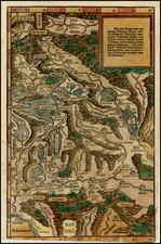 Switzerland Map By Johann Stumpf