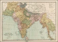 India, Southeast Asia and Central Asia & Caucasus Map By T. Ellwood Zell