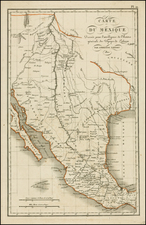 Texas, Southwest, Rocky Mountains and Mexico Map By Ambroise Tardieu