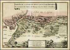 India Map By Eugene Henri Fricx / Francois Harrewyn