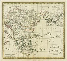 Hungary, Balkans, Turkey and Greece Map By William Guthrie