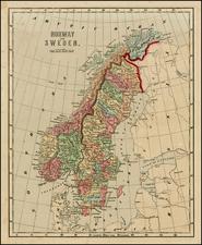 Scandinavia Map By Sidney Morse