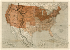United States Map By Thomas Ettling / Illustrated London News