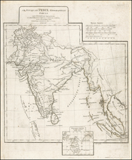 India and Southeast Asia Map By Jean-Baptiste Bourguignon d'Anville