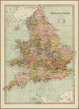 British Isles Map By T. Ellwood Zell