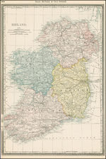 Ireland Map By William Rand  &  Andrew McNally